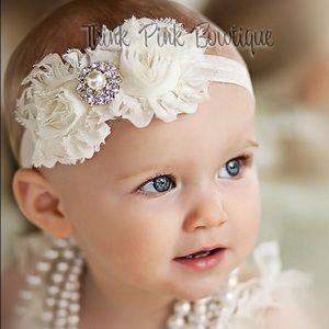 Other - Ivory Headband for Baby girl, Newborn, Christening